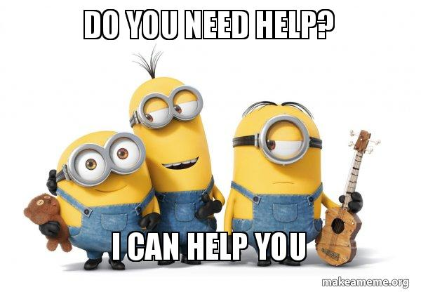 Image result for need help? minion