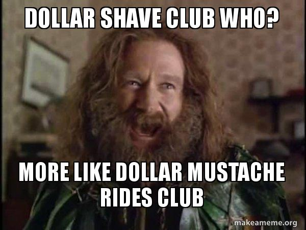 dollar shave club zgxhhd dollar shave club who? more like dollar mustache rides club robin