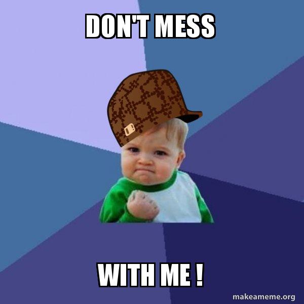 Scumbag Success Kid meme