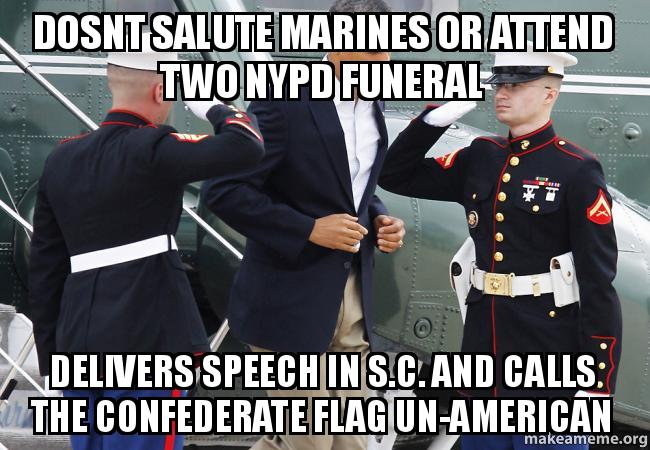 dosnt salute marines or attend two NYPD funeral delivers ...