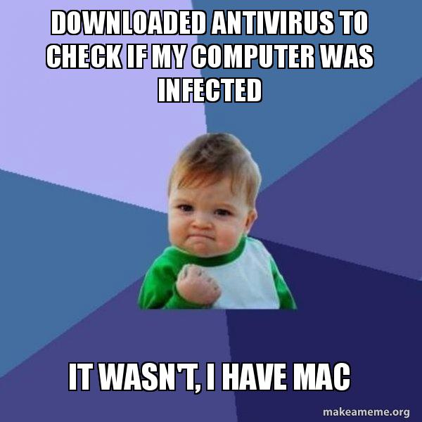 Downloaded antivirus to check if my computer was infected It wasn't