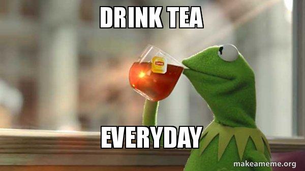 Drink Tea Everyday Snoop Frog Make A Meme