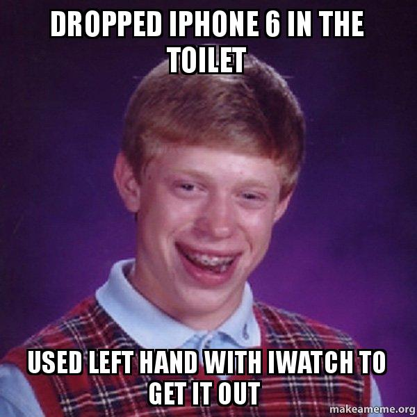 Dropped Iphone
