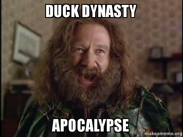 duck dynasty apocalypse robin williams what year is it jumanji