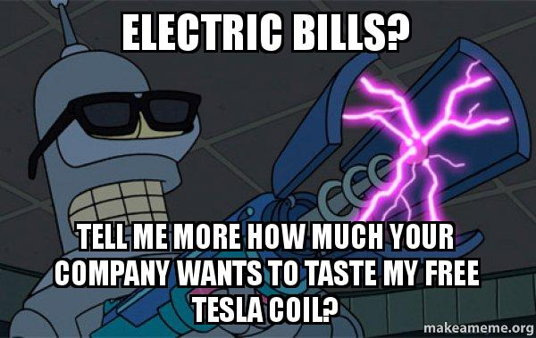 Electric Bills Tell Me More How Much Your Company Wants