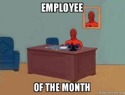employee of the u6gxbn employee of the month spiderman make a meme