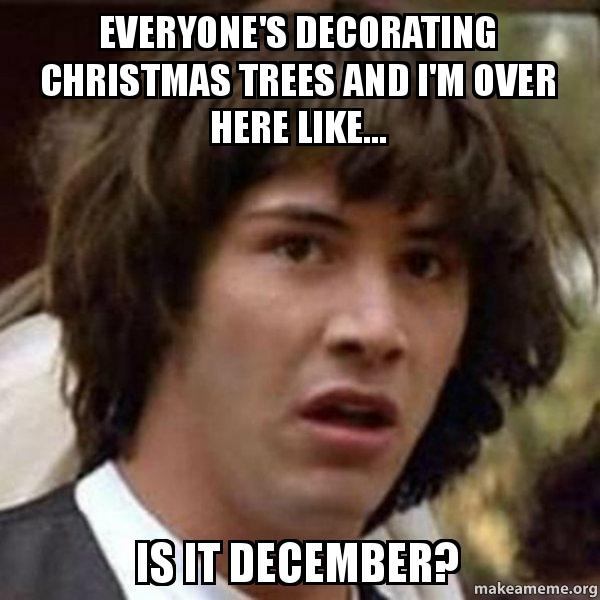 conspiracy keanu meme - Christmas Decorating Meme