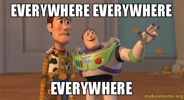 story everywhere meme Buzz toy