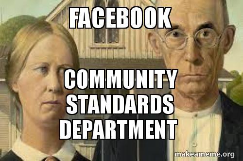Facebook Community standards department   Make a Meme