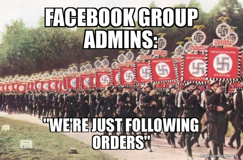 Facebook group admins: