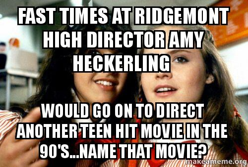 Fast Times At Ridgemont High Director Amy Heckerling Would Go On To