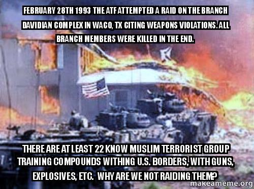 February 28th 1993 The Atf Attempted A Raid On The Branch Davidian
