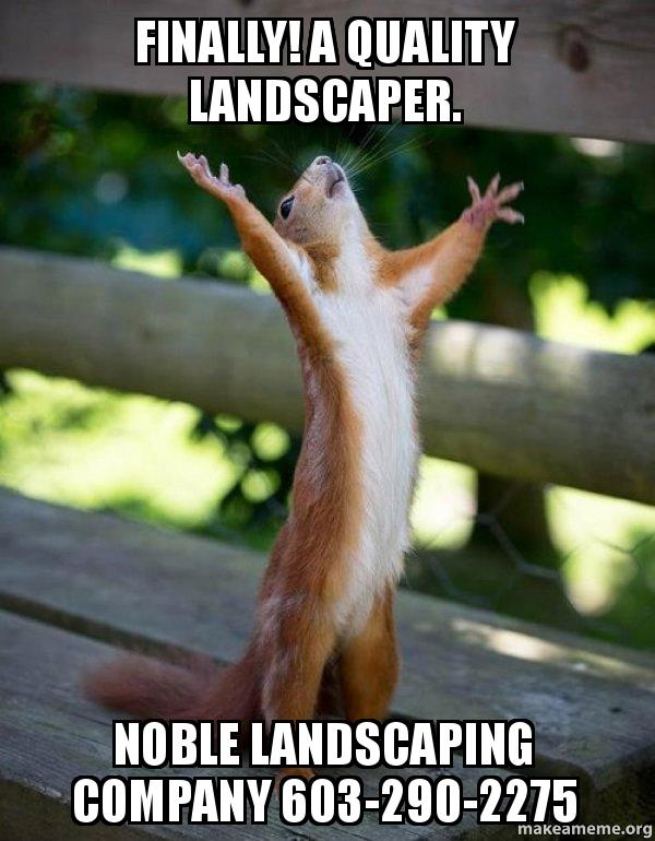 Finally A Quality Landscaper Noble Landscaping Company 603 290