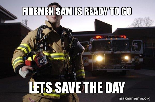 Firemen go for it