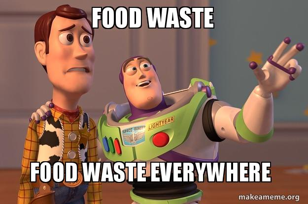 Image result for meme on food waste