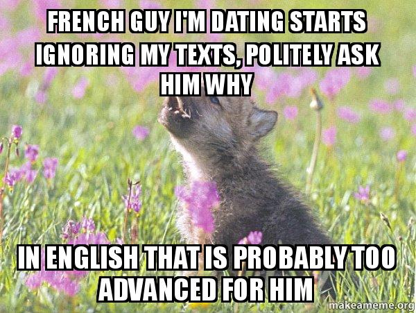 Dating with a french guy