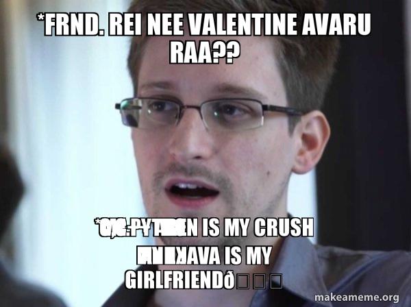 Edward Snowden meme