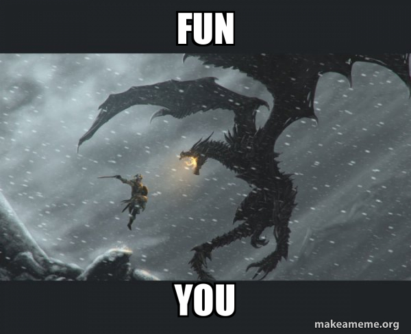 Skyrim Dragon Slaying meme
