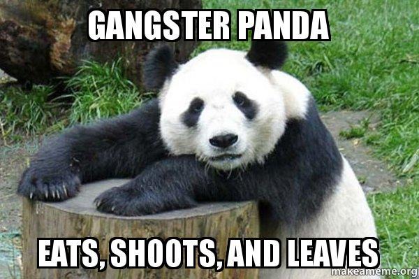 """Résultat de recherche d'images pour """"panda eats shoots and leaves"""""""