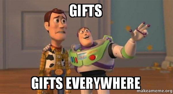 Funny Meme Gifts : Gifts gifts everywhere buzz and woody toy story meme make a meme