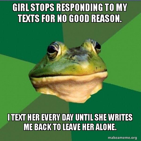 girl not responding