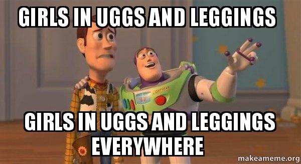 ... leggings everywhere - Buzz and Woody (Toy Story) Meme | Make a Meme