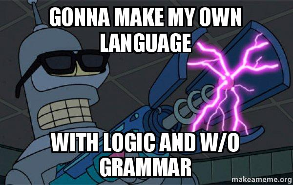 how to create my own language