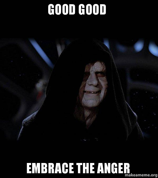 Image result for sith lord anger