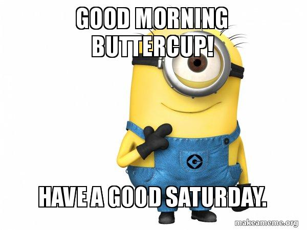 Good Morning Buttercup Have A Good Saturday Thoughtful Minion