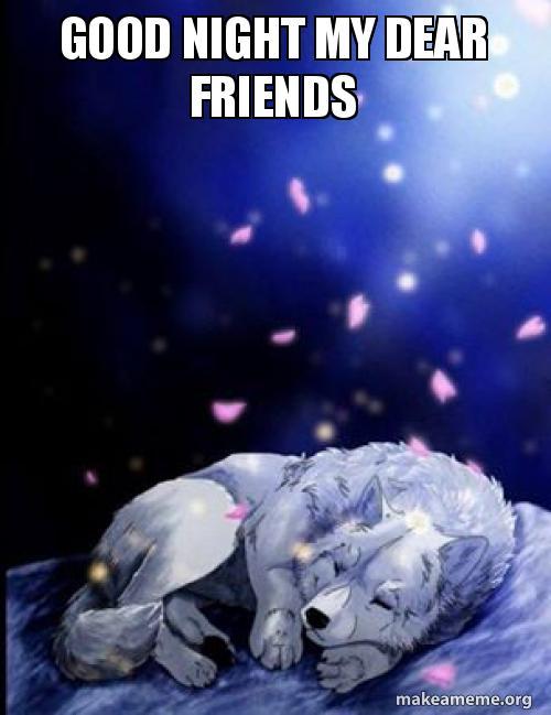 Good Night My Dear Friends Make A Meme