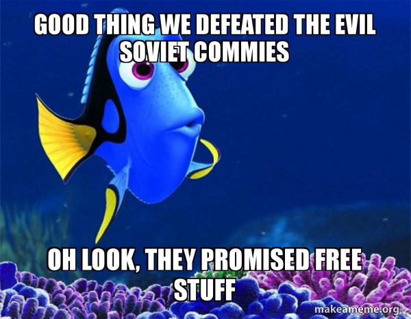 Dory from Nemo  (5 second memory) meme