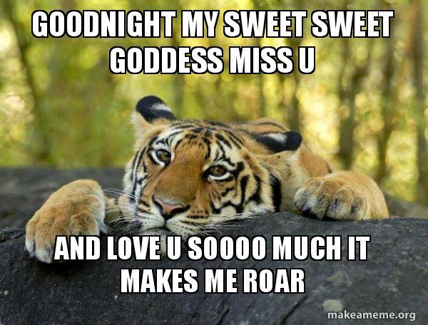 Goodnight My Sweet Sweet Goddess Miss U And Love U Soooo Much It