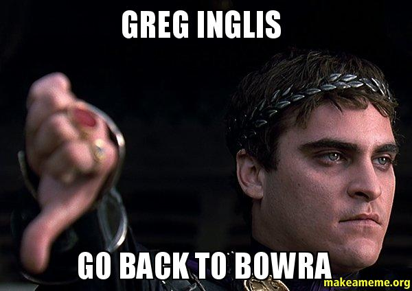 greg inglis greg inglis go back to bowra make a meme