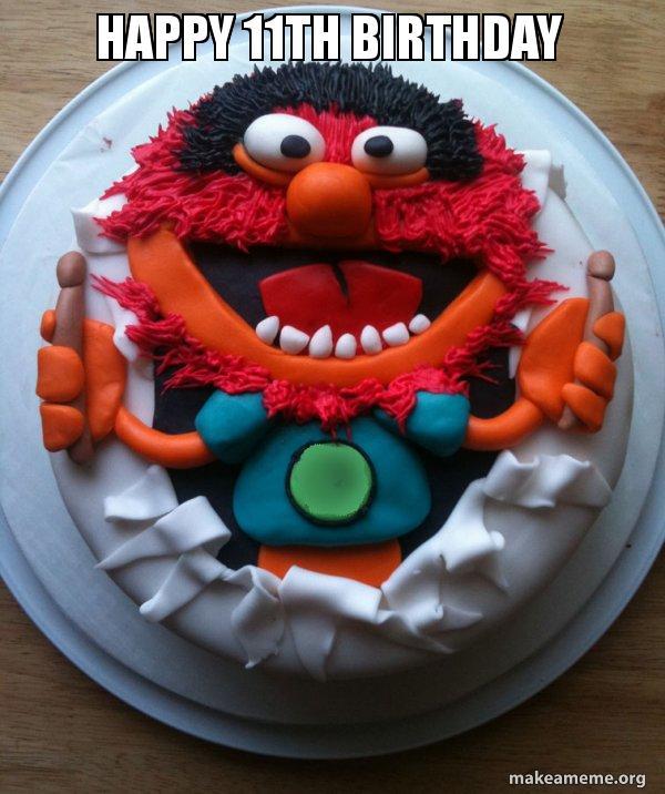 Happy 11th Birthday Cake Day Make A Meme