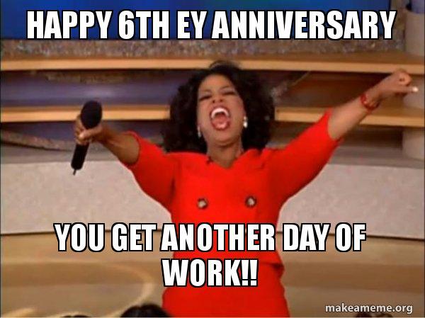 Meme maker happy year work anniversary
