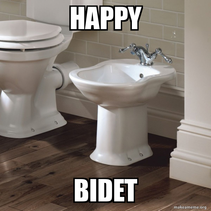 Happy Bidet Make A Meme