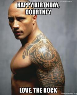 happy birthday courtney ir4crv happy birthday, courtney love, the rock make a meme