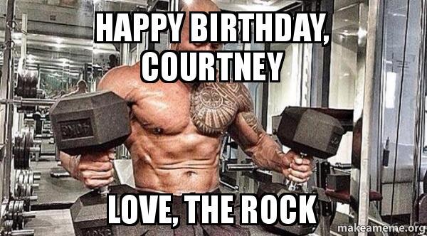 happy birthday courtney happy birthday, courtney love, the rock make a meme
