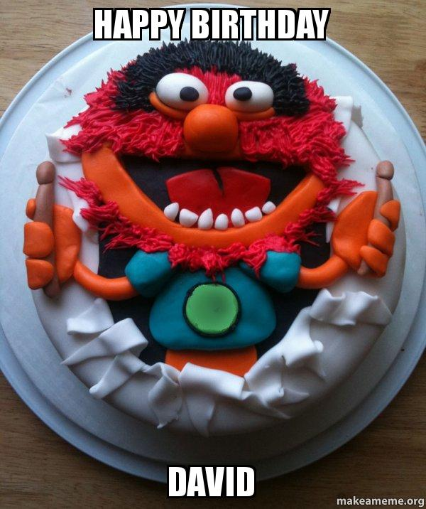 Happy Birthday David Cake Day Make A Meme