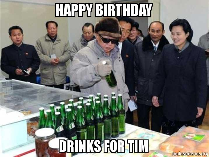 Happy Birthday Tim Cake