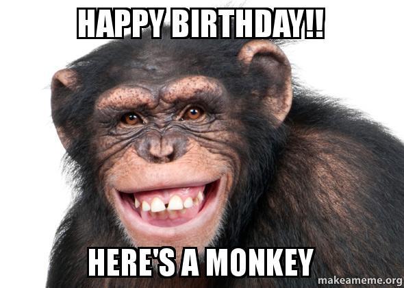 happy birthday funny monkey - photo #24
