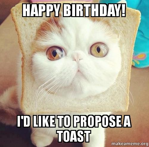 HAPPY BIRTHDAY! I'd Like To Propose A Toast