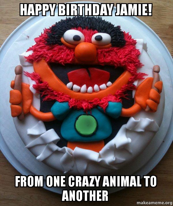 happy birthday jamie ql5t33 happy birthday jamie! from one crazy animal to another cake day