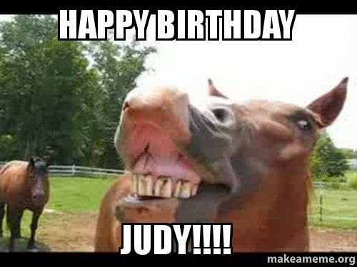 Happy Birthday Judy Make A Meme