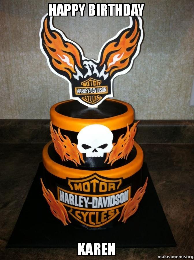Harley Davidson Cake Topper