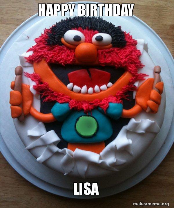 Happy Birthday Lisa Cake Day Make A Meme