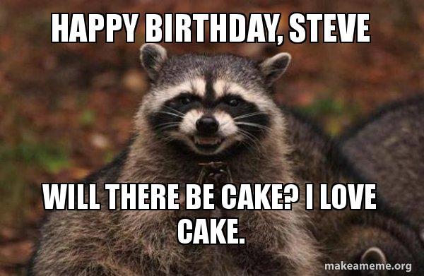Evil Plotting Raccoon Meme Birthday