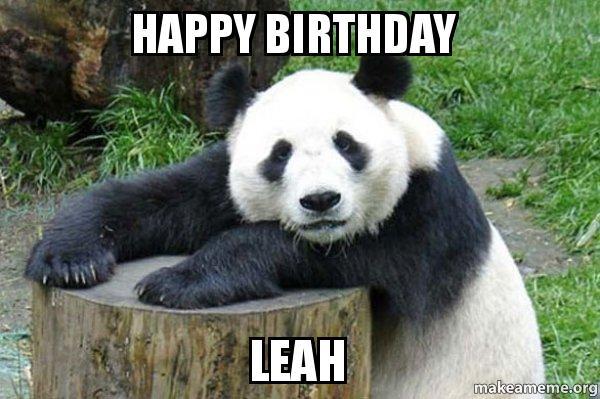 happy birthday xjfoqi happy birthday leah confession panda make a meme