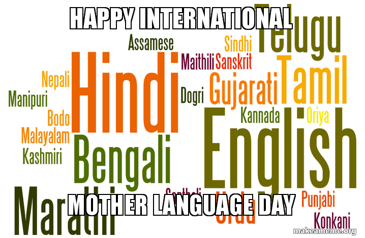 Happy International Mother Language Day - INdian Language