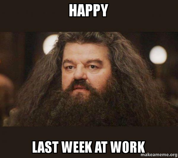 Happy Last Week At Work - Hagrid - I should not have said that | Make ...